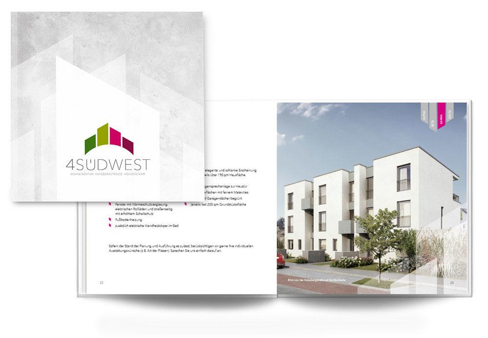 TAG:EINS Werbeagentur Print Design für Immobilienmarketing