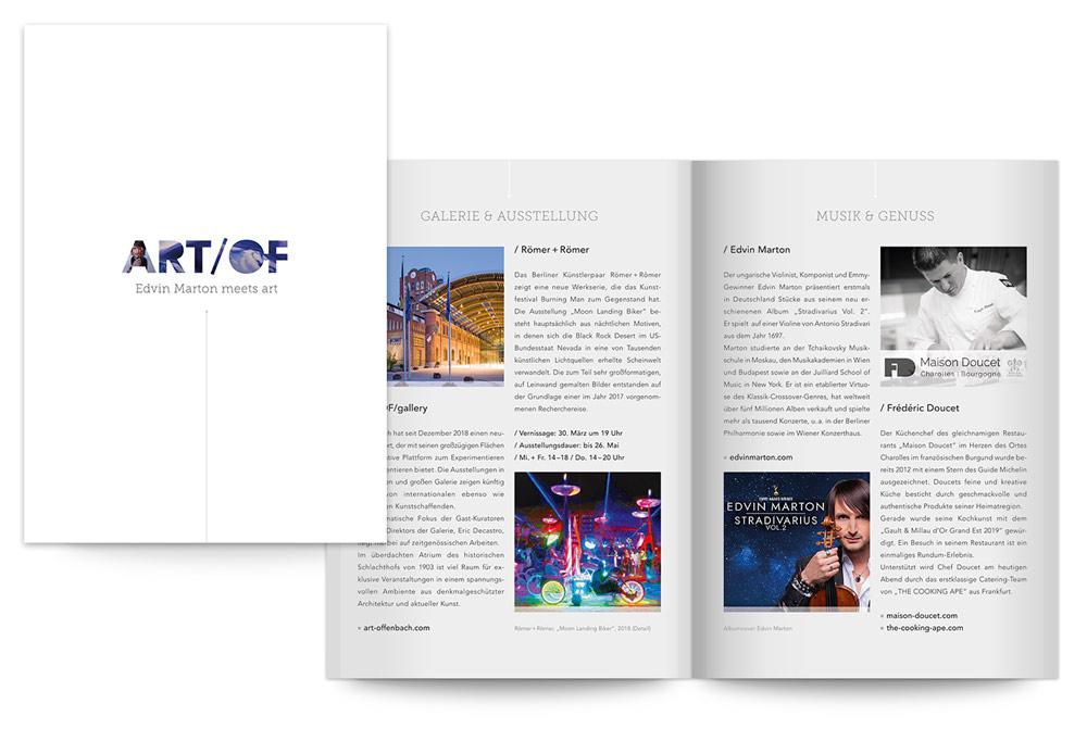 TAG:EINS Werbeagentur Print Design für Image- und Werbedrucksachen
