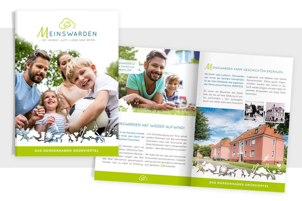 TAG:EINS Werbeagentur in Frankfurt – Print Design für Real Estate Marketing