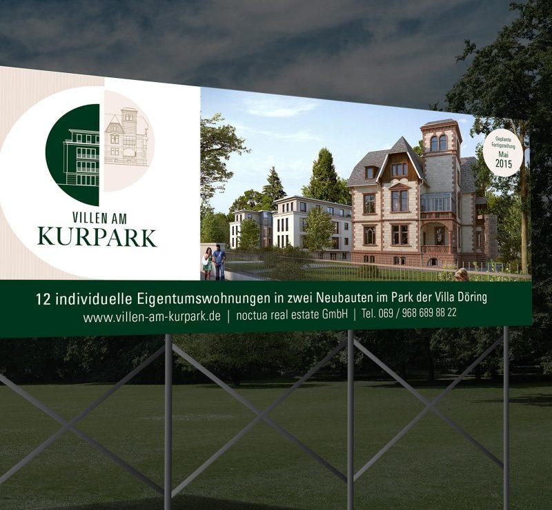 Villen am Kurpark • Werbeschilder • Kunde: Noctua Real Estate GmbH